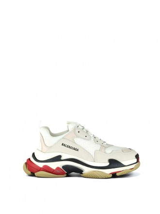 BALENCIAGA Triple S sneakers white with red/black