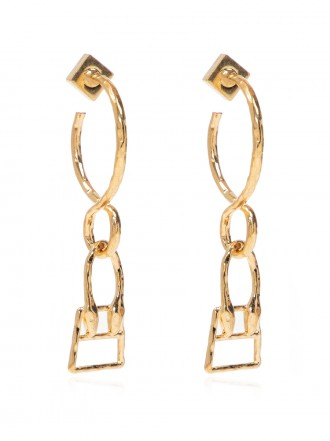 JACQUEMUS BRASS EARRINGS WITH CHARM 1208352