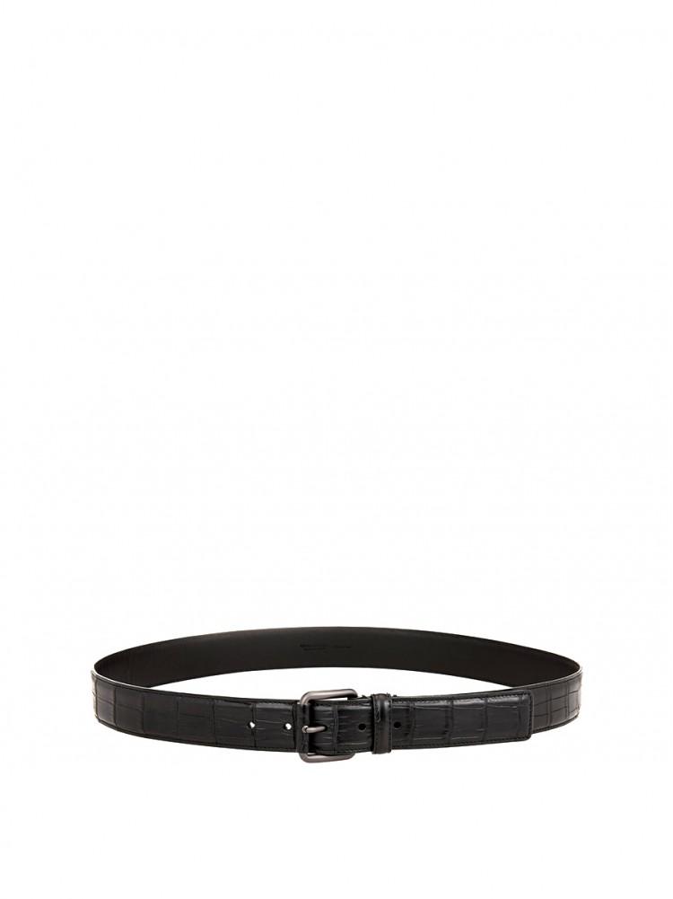 BOTTEGA VENETA  Crocodile 3.5cm belt  01179711 - 50% OFF