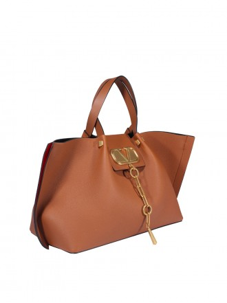 VALENTINO GARAVANI LEATHER VLOGO TOTE 1209494