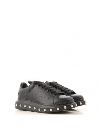 ALEXANDER MCQUEEN oversied sole sneakers black with silver pins - 30% OFF