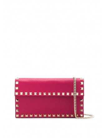 VALENTINO GARAVANI Rockstud cross-body bag red