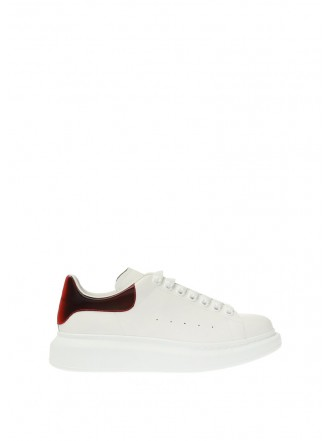 ALEXANDER MCQUEEN SNEAKERS WITH LOGO glossy red