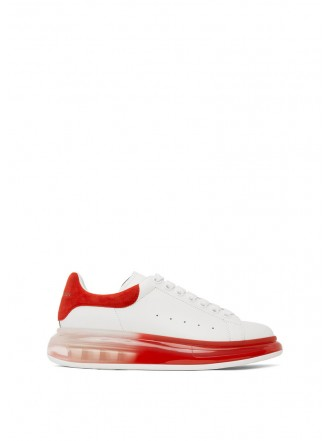 Alexander McQueen  White & Red Oversized Sneakers white/red