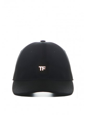 Tom Ford Black cotton canvas hat black