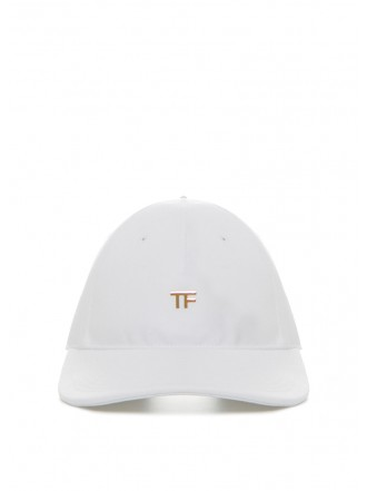 Tom Ford Black cotton canvas hat white