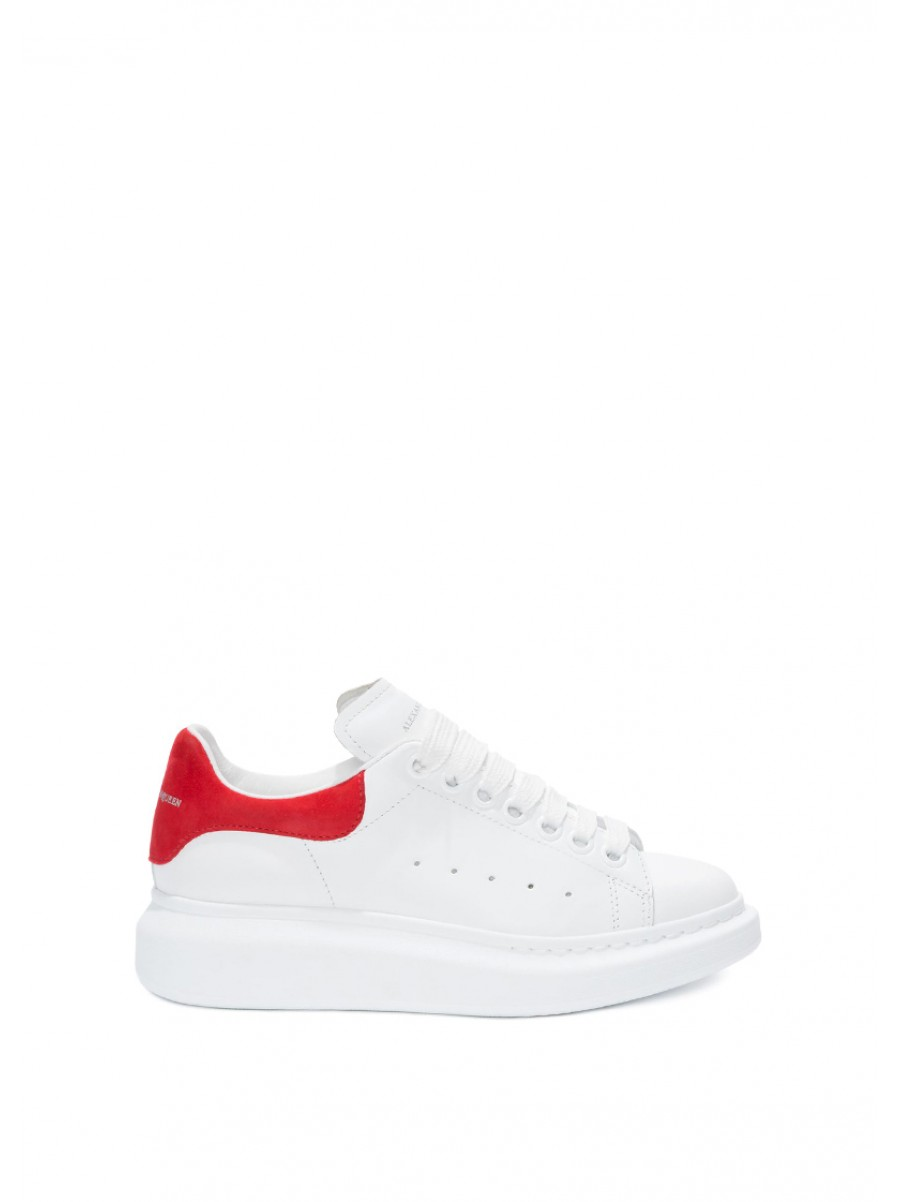 ALEXANDER MCQUEEN Oversized sole sneakers  red