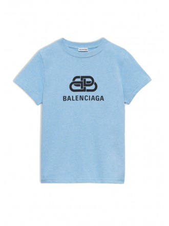 Balenciaga T-Shirt light blue logo