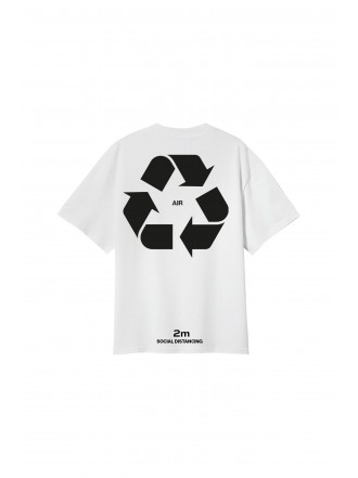 SU:MMA t-shirt social distancing - white