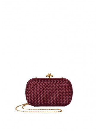 BOTTEGA VENETA  Silk Chain Knot Bordeaux/Gold - 50% OFF