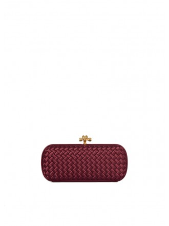 BOTTEGA VENETA Silk Knot Bordeaux  - 50% OFF
