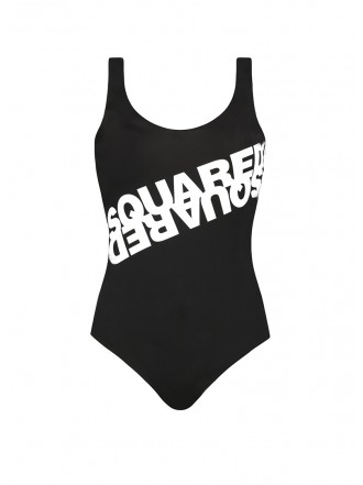 DSQUARED2 ONE-PIECE SWIMSUIT black logo