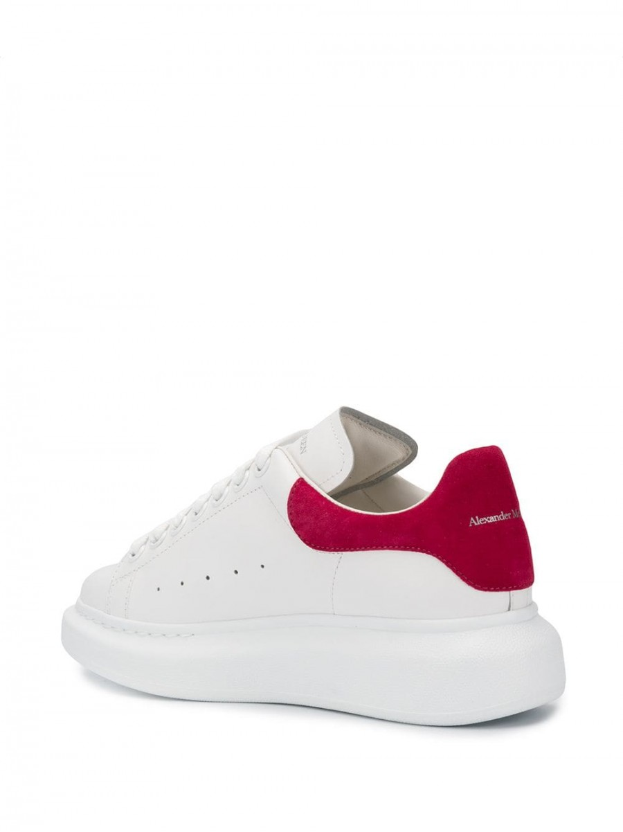 ALEXANDER MCQUEEN oversized low top sneakers red