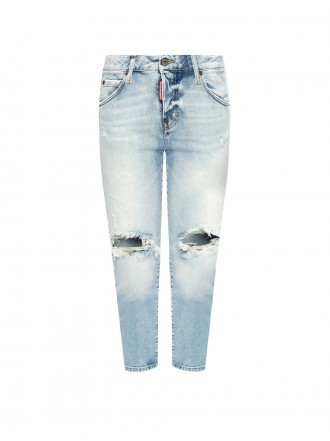 DSQUARED2 'COOL GIRL CROPPED JEAN' RAW EDGE JEANS 1208686