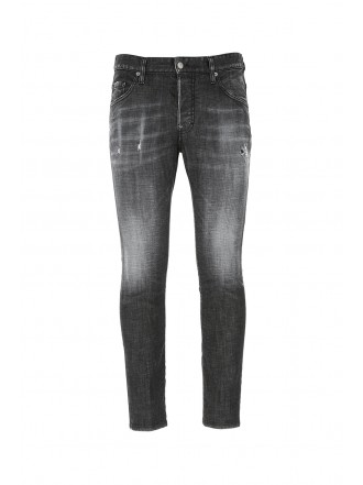 DSQUARED2  Black stretch denim Skater jeans 1209373