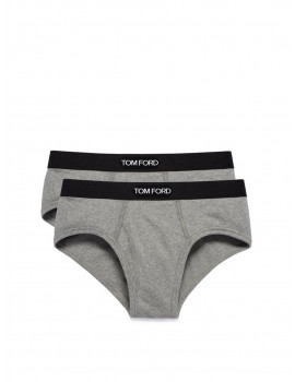 Tom Ford Cotton Brief Two pack Grey  T4XC1-104-020