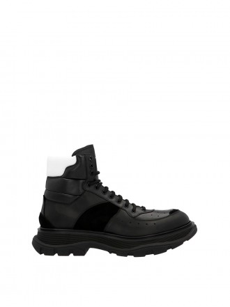 Alexander Mcqueen ankle leather combat boots 1203733