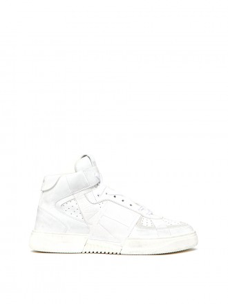 MID-TOP CALFSKIN VL7N SNEAKER WITH BANDS   VW0S0BF5JTV10K