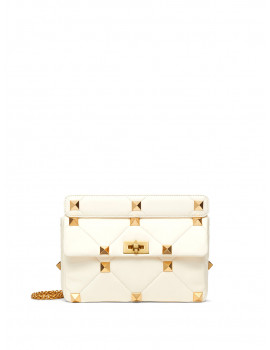LARGE ROMAN STUD THE SHOULDER BAG IN NAPPA WITH CHAIN   VW2B0I60BSF098