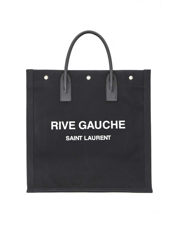 RIVE GAUCHE N/S TOTE BAG IN PRINTED CANVAS AND LEATHER 1205959