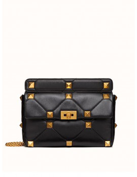Valentino LARGE ROMAN STUD THE SHOULDER BAG IN NAPPA WITH CHAIN VW2B0I60BSF0NO