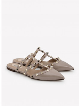 VALENTINO ROCKSTUD PATENT LEATHER CAGED MULES 1198219