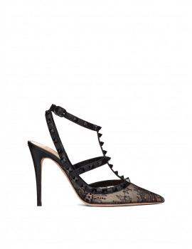 VALENTINO Rockstud eyelet-lace pump with ankle straps   VW2S0393TPU0NO -50%
