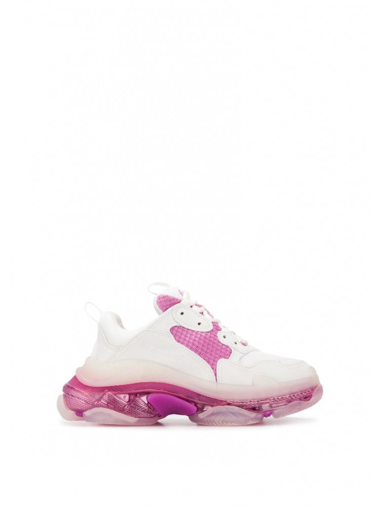 BALENCIAGA Triple S pink clear sole sneakers
