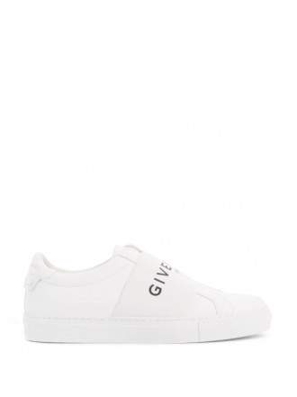 GIVENCHY Paris strap sneakers white